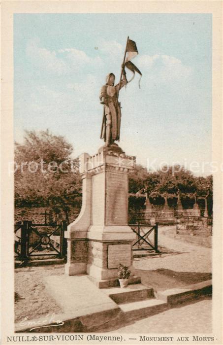 AK / Ansichtskarte Nuille sur Vicoin Monument aux Morts Nuille sur Vicoin