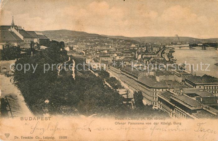 AK / Ansichtskarte Budapest Panorama Blick von der Koeniglichen Burg Budapest
