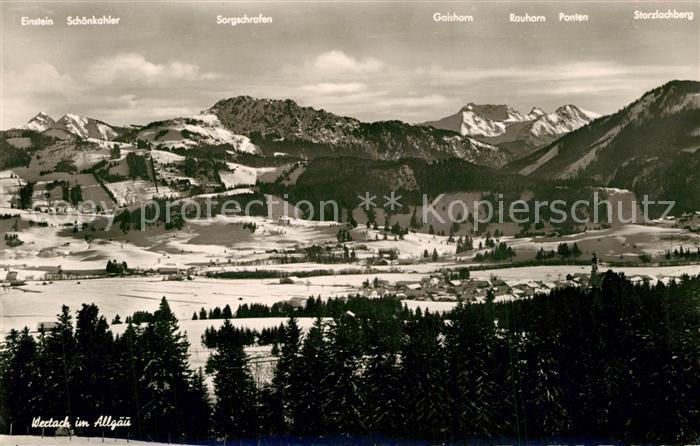 AK / Ansichtskarte Wertach Winterpanorama Allgaeuer Alpen Wertach