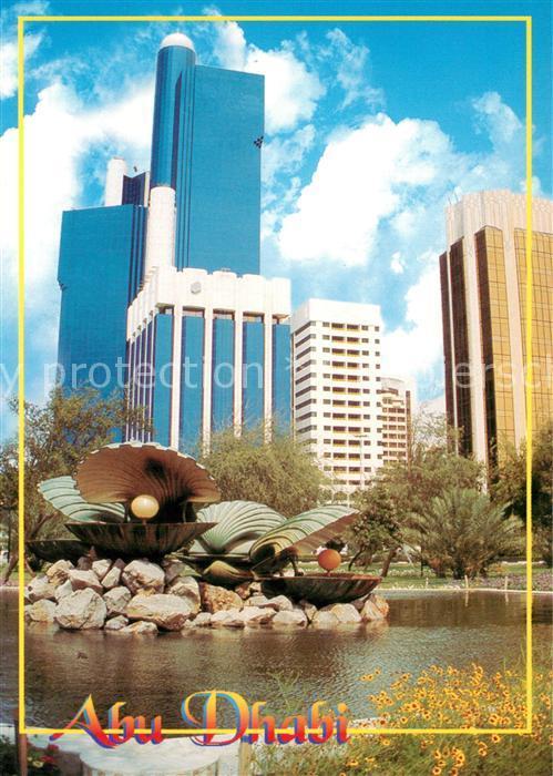 AK / Ansichtskarte Abu_Dhabi Stadtpanorama Brunnen Abu_Dhabi