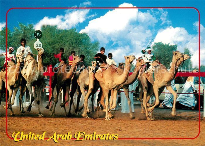 AK / Ansichtskarte Vereinigte Arabische Emirate Kamelrennen Vereinigte Arabische Emirate
