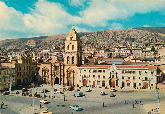 AK / Ansichtskarte La_Paz_Bolivia Iglesia San Francisco La_Paz_Bolivia