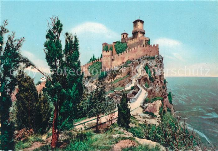 AK / Ansichtskarte San Marino Burg San Marino
