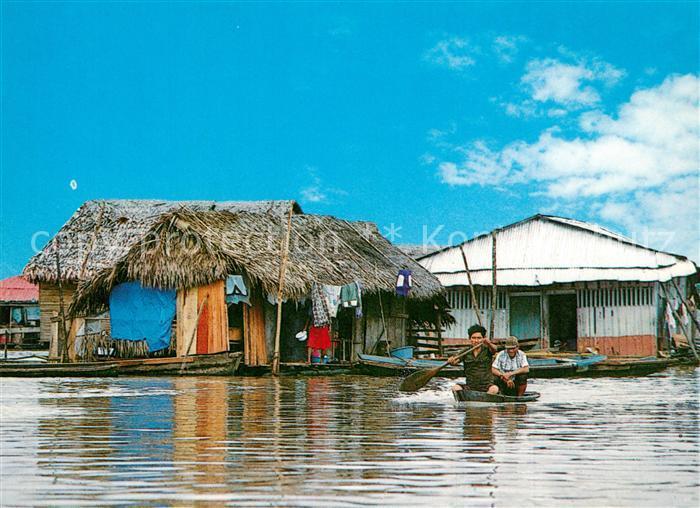 AK / Ansichtskarte Iquitos Belen Floating District Iquitos