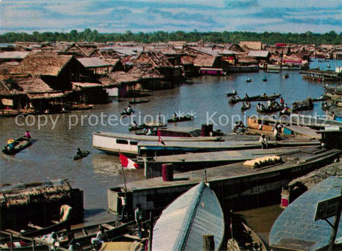 AK / Ansichtskarte Iquitos Puerto de Belen Panorama Altstadt Iquitos