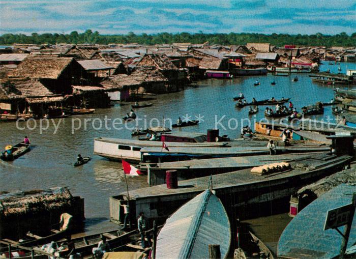 AK / Ansichtskarte Iquitos Puerto de Belen Altstadt Panorama Iquitos