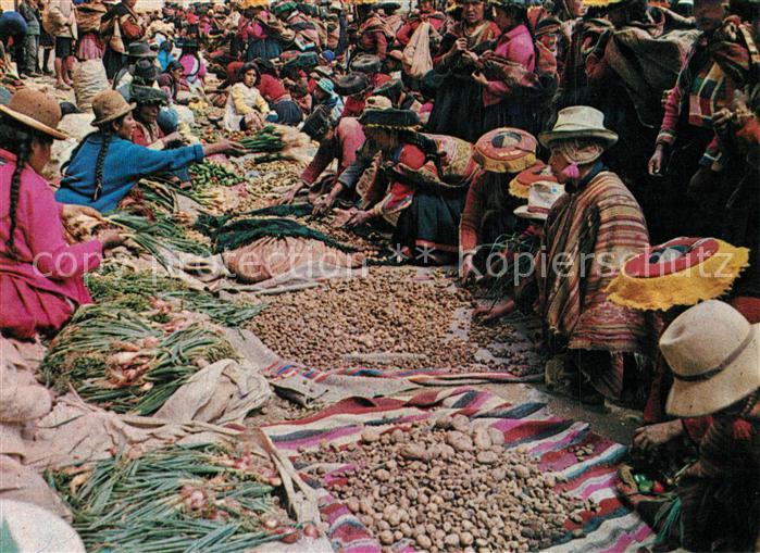 AK / Ansichtskarte Cusco Mercado dominical de Ccattka Cusco