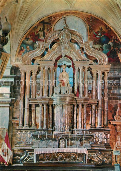 AK / Ansichtskarte Cusco Main altar Basilica Cathedral Cusco