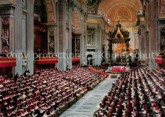 AK / Ansichtskarte Vatikanstadt Konzil Petersdom Vatikanstadt