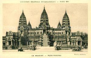 AK / Ansichtskarte Paris Exposition Coloniale Internationale Temple d Angkor Vat Facade Principale Paris