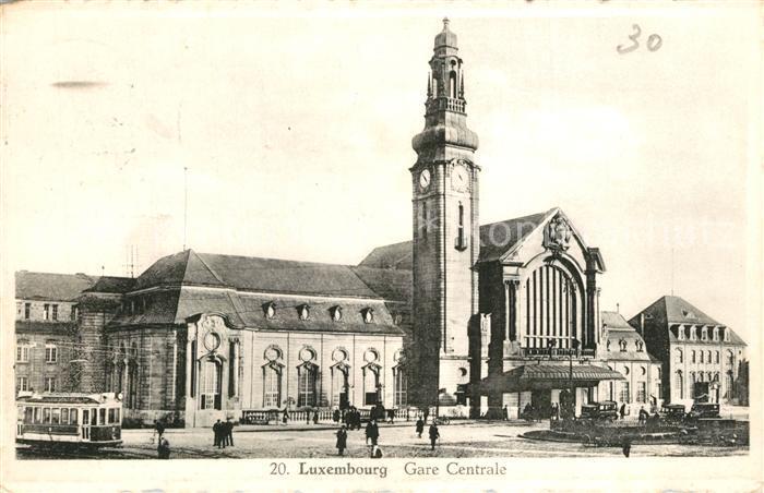 AK / Ansichtskarte Luxembourg_Luxemburg Gare Centrale Luxembourg Luxemburg
