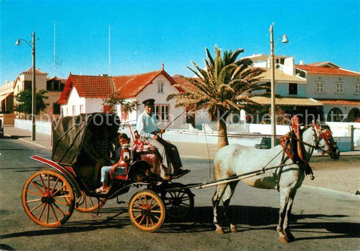 AK / Ansichtskarte Monte_Gordo Typical horse carriage Monte Gordo