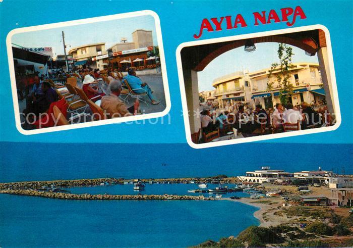 AK / Ansichtskarte Ayia_Napa_Agia_Napa Hafen und Zentrum Strassencafes Ayia_Napa_Agia_Napa