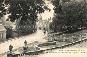 AK / Ansichtskarte Dampierre en Burly Fontaine du Chateau et Eglise Dampierre en Burly