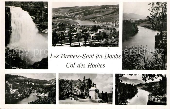 AK / Ansichtskarte Col_des_Roches Les Brenets Saut du Doubs  Col_des_Roches