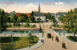 AK / Ansichtskarte Mulhausen Stadteingang Strassenbahn Mulhausen
