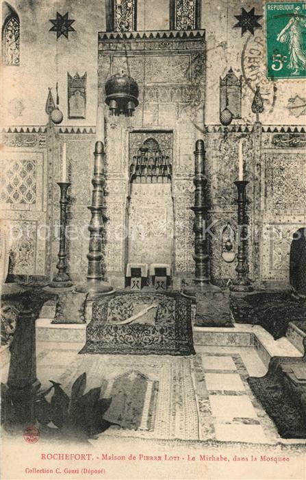 AK / Ansichtskarte Rochefort_Charente Maritime Maison de Pierre Loti Mirhabe dans la Mosque Rochefort