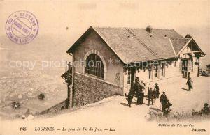 AK / Ansichtskarte Lourdes_Hautes_Pyrenees La gare du Pic du Jer Lourdes_Hautes_Pyrenees