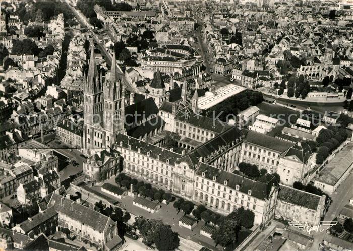 AK / Ansichtskarte Caen Abbaye Collection La France vue du ciel Caen