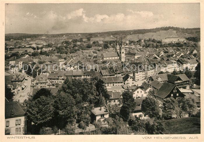 AK / Ansichtskarte Winterthur_ZH Panorama Blick vom Heiligenberg aus Winterthur ZH