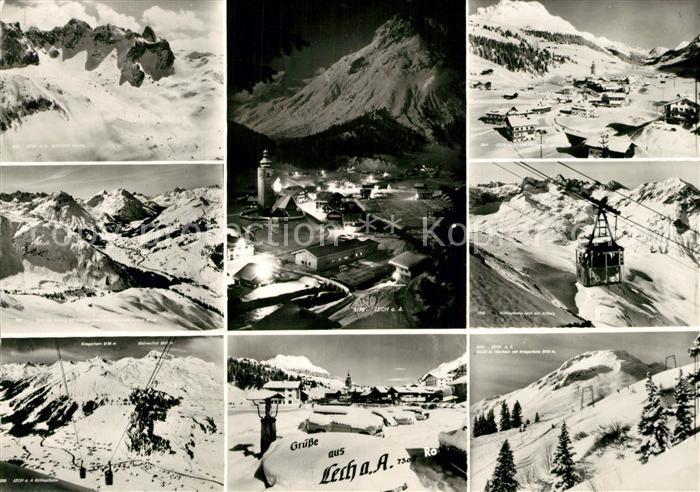 AK / Ansichtskarte Lech_Vorarlberg Wintersportplatz Alpen Bergbahn Lech Vorarlberg