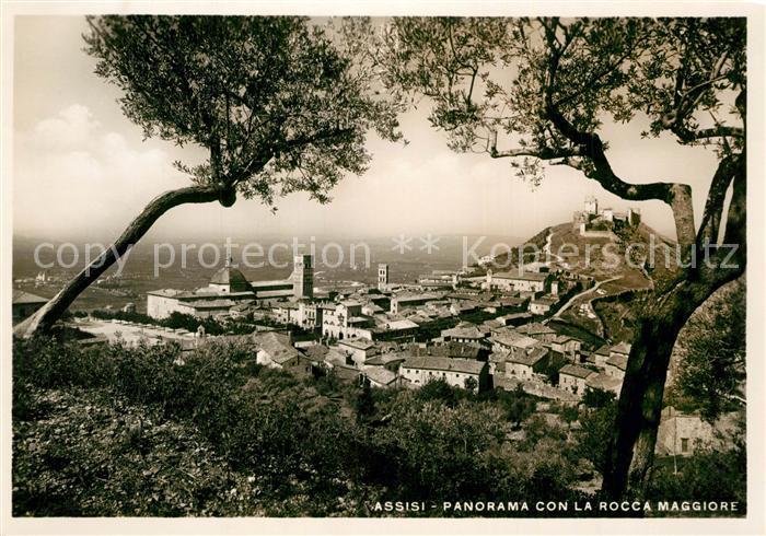 AK / Ansichtskarte Assisi_Umbria Panorama con la Rocca Maggiore Assisi Umbria