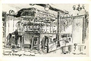 AK / Ansichtskarte Princetown Lounge Bar Devils Elbow Drawing Kuenstlerkarte