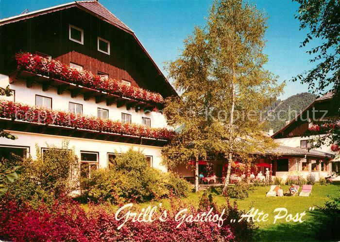 AK / Ansichtskarte Faistenau_Salzburg Grill s Gasthof Alte Post Garten Faistenau_Salzburg