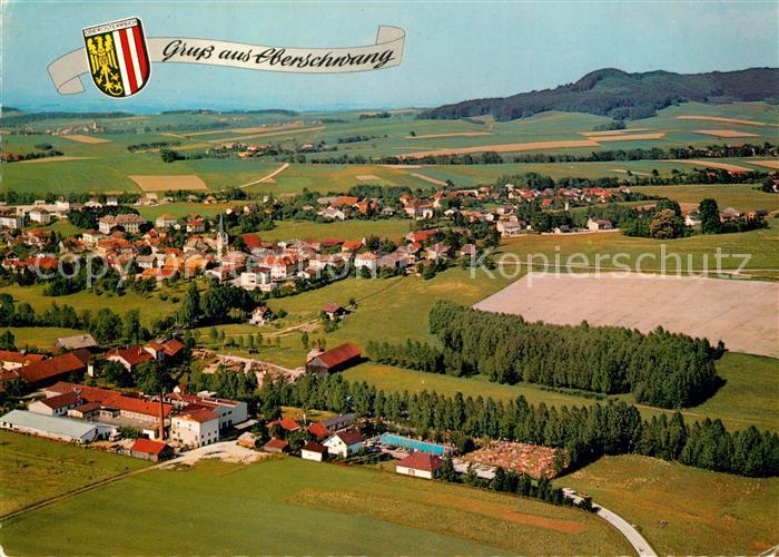 AK / Ansichtskarte Eberschwang Erholungsort Hausruckwald Fliegeraufnahme Eberschwang