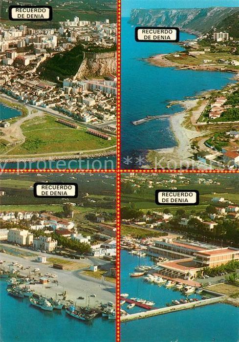 AK / Ansichtskarte Denia Fliegeraufnahmen Denia