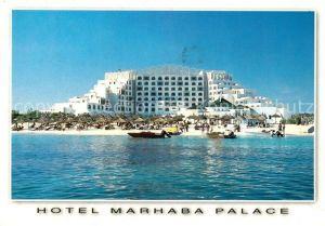 AK / Ansichtskarte Sousse Hotel Marhaba Palace Strand Ansicht vom Meer aus Sousse