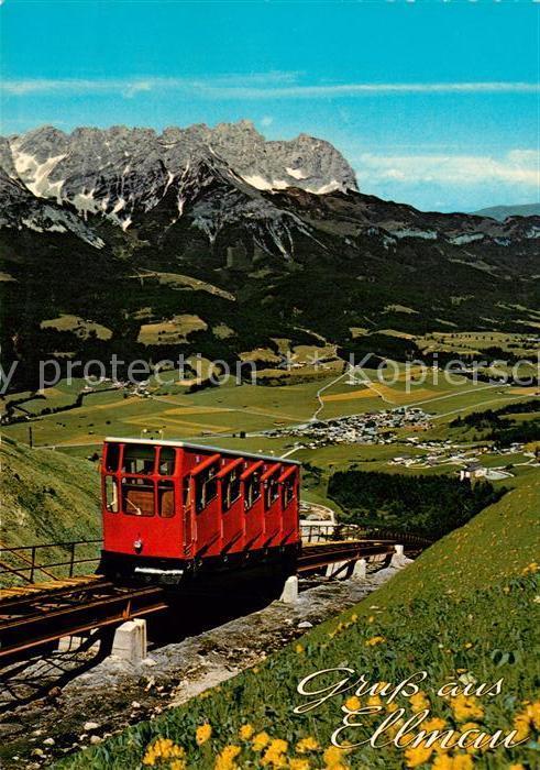 AK / Ansichtskarte Ellmau_Tirol Hartkaiser Standseilbahn gegen Wilden Kaiser Ellmau Tirol