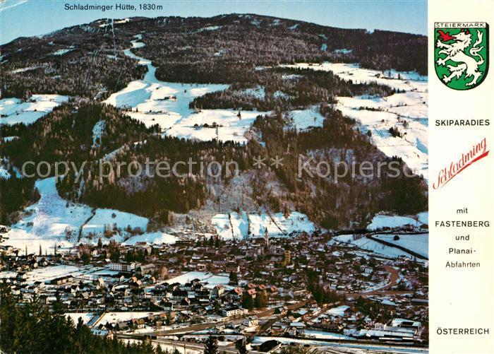 AK / Ansichtskarte Schladming_Obersteiermark Fliegeraufnahme Skizentrum Fastenberg  Schladming_Obersteiermark