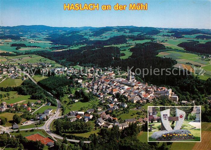 AK / Ansichtskarte Haslach_Muehl Fliegeraufnahme Haslach_Muehl