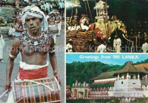 AK / Ansichtskarte Sri_Lanka Kandyan Drummer Kandy Perahera Temple of Tooth Relic Sri_Lanka