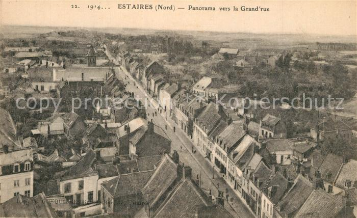 AK / Ansichtskarte Estaires Panorama vers la Grand rue Estaires