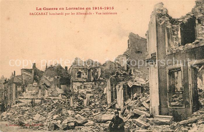 AK / Ansichtskarte Baccarat La Guerre en Lorraine Bombardements 1914 15 Ruinen Baccarat