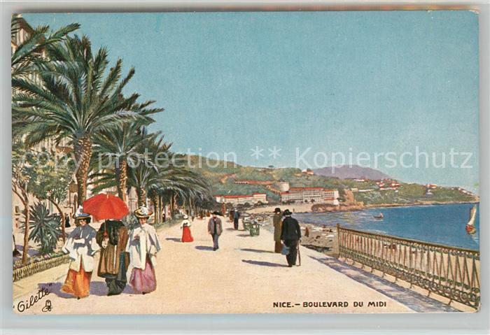 AK / Ansichtskarte Nice_Alpes_Maritimes Boulevard du Midi Gilette Nice_Alpes_Maritimes