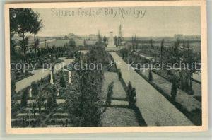 AK / Ansichtskarte Billy Montigny Soldatenfriedhof  Billy Montigny