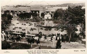 AK / Ansichtskarte London Palace of Engineering and the Lake British Empire Exhibition London