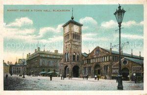 AK / Ansichtskarte Blackburn Market House and Town Hall