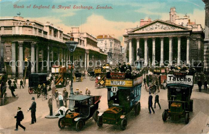 AK / Ansichtskarte London Bank of England and Royal Exchange London