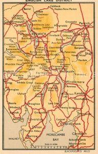 AK / Ansichtskarte Keswick English Lake District Karte Keswick