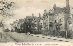 AK / Ansichtskarte London Westfield College from the Road London