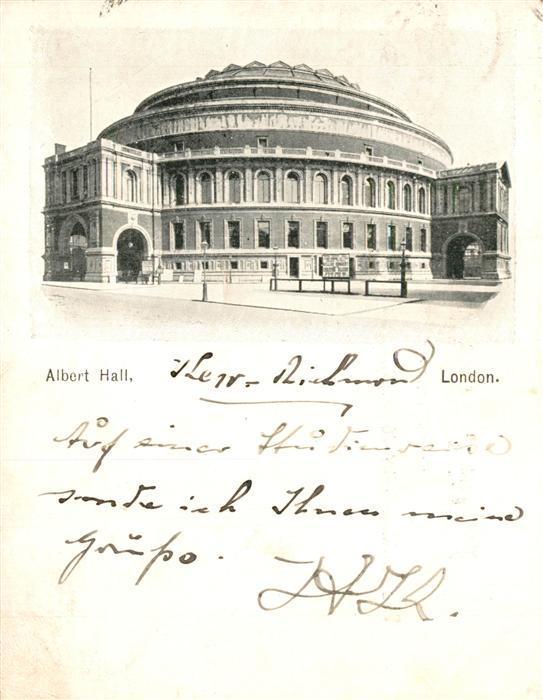 AK / Ansichtskarte London Albert Hall London 0