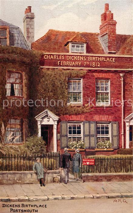 AK / Ansichtskarte Portsmouth Dickens Birthplace Portsmouth
