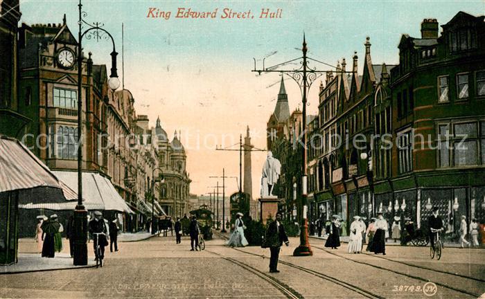 AK / Ansichtskarte Hull_UK King Edward Street Hull_UK
