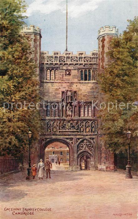 AK / Ansichtskarte Cambridge_Cambridgeshire Gateway Trinity College Cambridge Cambridgeshire