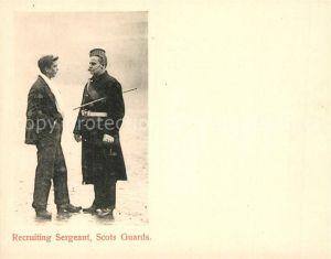 AK / Ansichtskarte Schottland Recruiting Sergeant Scots Guard Schottland