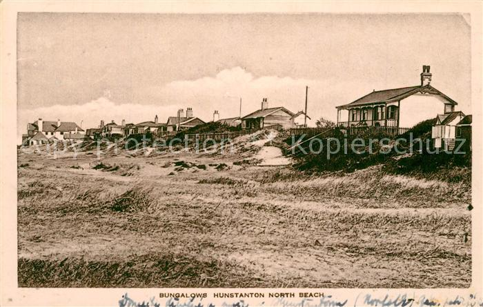 AK / Ansichtskarte Hunstanton Bungalows North Beach